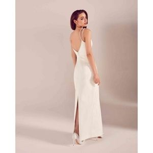 Ted Baker Embellished White Gown in Silhouette